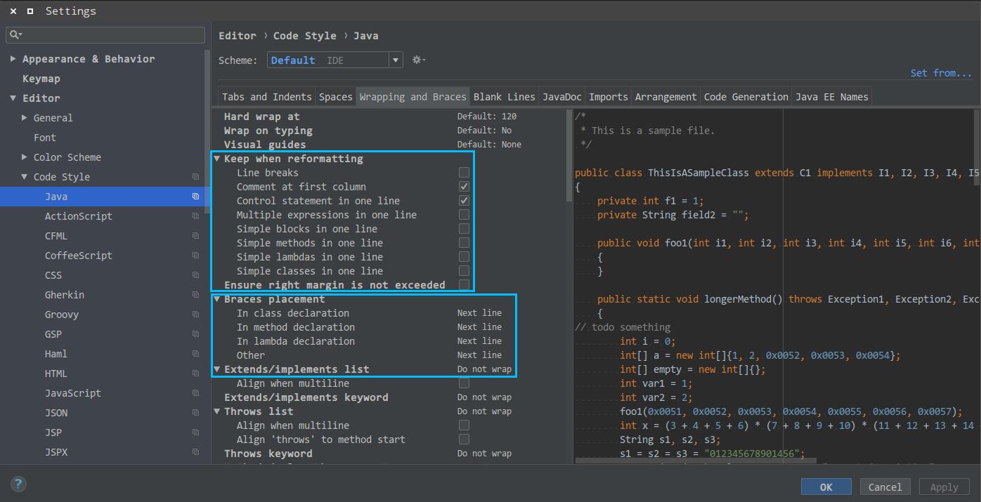 IDEA代码风格调整与快速输入快捷键